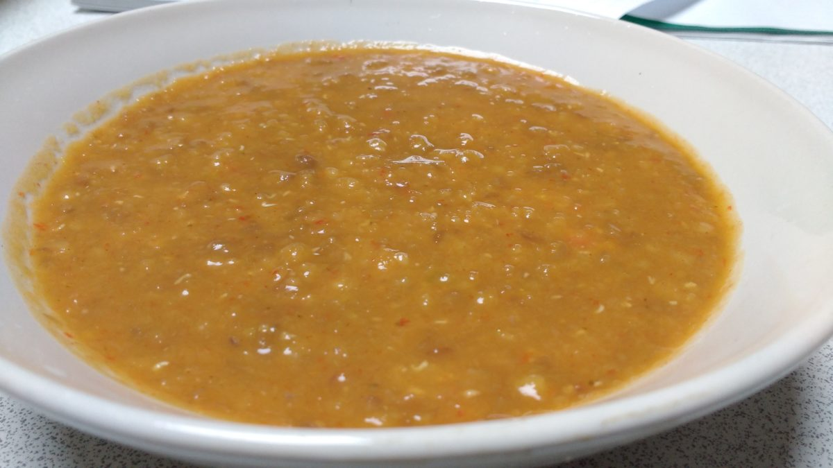 Carrot, Lentil and Roasted Red Pepper Soup
