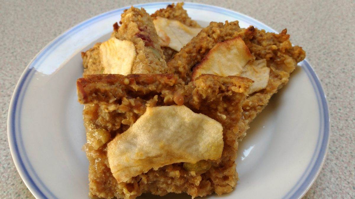 Apple and Peanut butter Flapjack